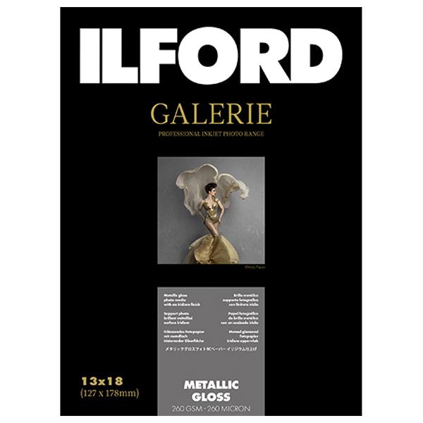 432678 イルフォード インクジェット用紙 メタリックグロス 厚手 メタル調 2L(127mm×178mm)100枚 ILFORD GALERIE Metallic Gloss ギャラリー プロフォトペーパー