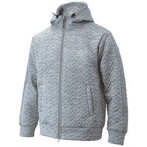 GKWJ19125W GY L キャスコ メンズ 4層中綿フード付きジャケット(杢グレー・サイズ:L) Kasco 246154