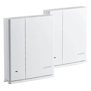 WMC-DLGST2-W エレコム 11ac対応 867+400Mbps 無線LANルーター e-Meshスターターキット(親機・中継器セット) ELECOM