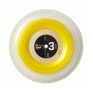 GOS-TSGT312SY ゴーセン 硬式テニス用ガット ジー・ツアー3(ソリッドイエロー・1.23mm×220m) GOSEN G-TOUR series G-TOUR3 17GA