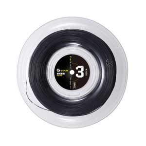 GOS-TSGT302BK ゴーセン 硬式テニス用ガット ジー・ツアー3(ブラック・1.28mm×220m) GOSEN G-TOUR series G-TOUR3 16LGA