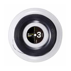 GOS-TSGT312BK ゴーセン 硬式テニス用ガット ジー・ツアー3(ブラック・1.23mm×220m) GOSEN G-TOUR series G-TOUR3 17GA