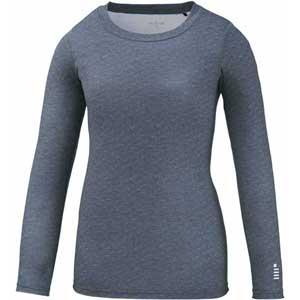GOS-FR1905-37-S ゴーセン レディース コンフィット LSシャツ(グレー杢・サイズ:S) GOSEN