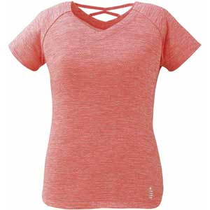 GOS-T1927-87-L ゴーセン レディース ゲームシャツ(ピンク杢・サイズ:L) GOSEN テニス・バドミントン用シャツ