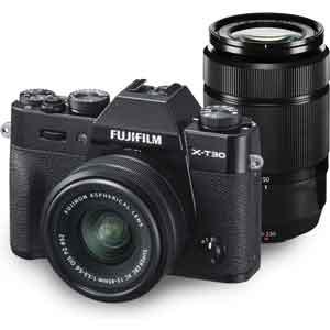 FX-T30WZLK-B 富士フイルム ミラーレス一眼カメラ「FUJIFILM X-T30」ダブルズームレンズキット(ブラック)