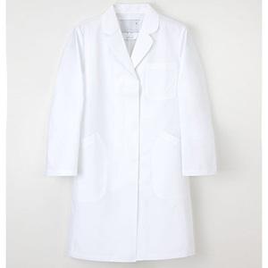EM3035(8-9247-03) ナガイレーベン 診察衣 女性用 Lサイズ(ホワイト)
