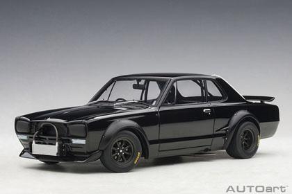 1/18 日産 スカイライン GT-R (KPGC10) レーシング 1972 (ブラック)【87278】 オートアート