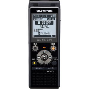V-873-BLK ラッピング無料 オリンパス 8GBメモリ内蔵 ブラック オーバーのアイテム取扱☆ 外部microSDスロット搭載 OLYMPUS Voice-Trek