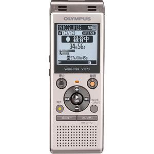 V-873-GLD オリンパス 8GBメモリ内蔵+外部マイクロSDスロット搭載ICレコーダー(シャンパンゴールド) OLYMPUS Voice-Trek