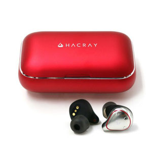 HR16370 ハクライ 完全ワイヤレス Bluetoothイヤホン(レッド) HACRAY TRUE WIRELESS EARPHONE W1