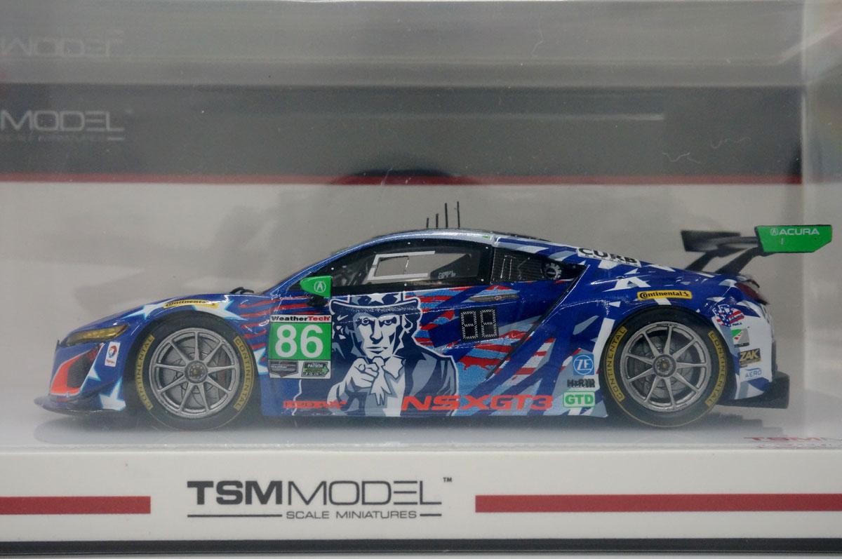 1/43 Acura NSX GT3 IMSA チャンピオンシップ ワトキンスグレン 2017 #86 `アンクル サム`【TSM430384】 TSM Model