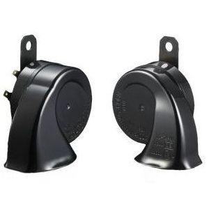 12VSGIGA 丸子警報器 スーパーギガ ホーン 日本製 保安基準適合品 高い素材 12V車専用 国内在庫 トランペット型