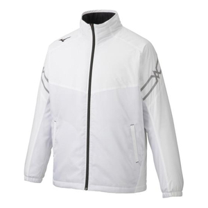 32ME963001L ミズノ ユニセックス ブレスサーモ中綿ジャケット(ホワイト×リリーホワイト×ブラック・サイズ:L) MIZUNO