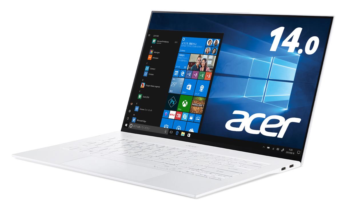 SF714-52T-A76Y/W Acer(エイサー) 14型ノートパソコン Swift 7 ムーンストーンホワイト