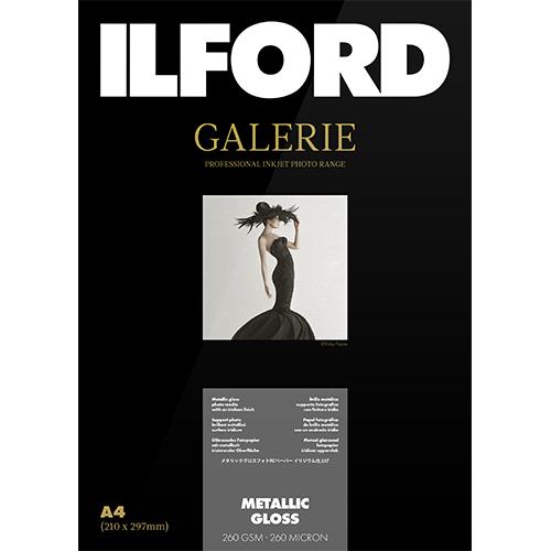 422208 イルフォード インクジェット用紙 メタリックグロス 厚手 メタル調 A4 100枚 ILFORD GALERIE METALLIC GLOSS ギャラリー プロフォトペーパー
