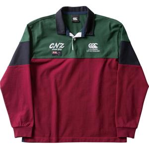 CCC-RA4960969-M カンタベリー ロングスリーブ ラガーシャツ(マルーン・サイズ:M) CANTERBURY L/S RUGGER SHIRT