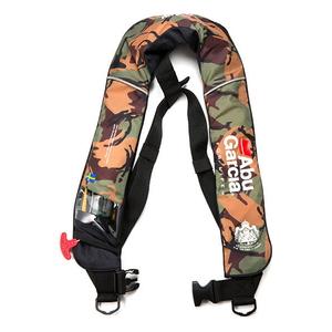 1410515 アブガルシア インフレータブルジャケット フリーサイズ(カモ) 国土交通省型式承認品 AbuGarcia 水感知機能付ライフジャケット 小型船舶用救命胴衣