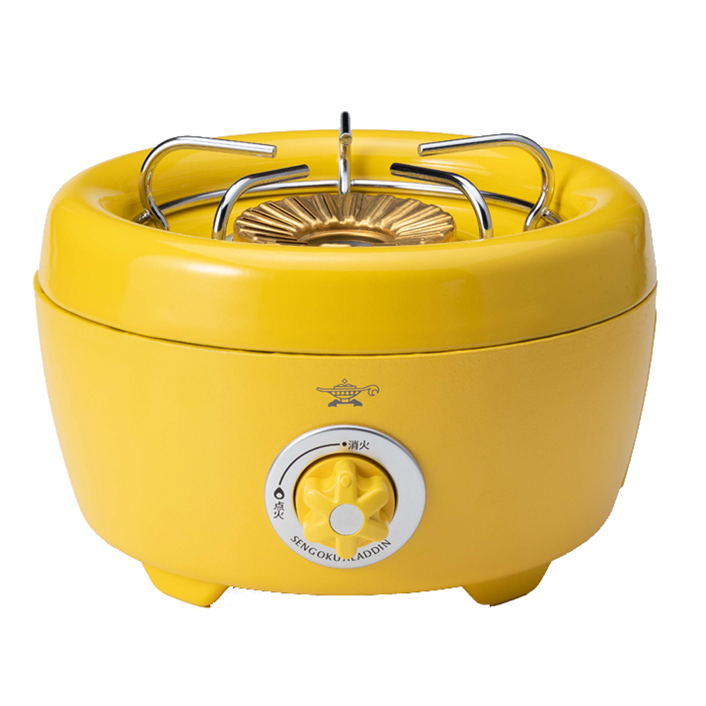 SAG-HB01-Y アラジン ポータブルガスカセットコンロ ヒバリン イエロー お得セット Aladdin 世界の人気ブランド Series Gas SAGHB01Y Portable