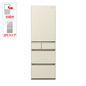 (標準設置料込)NR-E415PV-N パナソニック 406L 5ドア冷蔵庫(シャンパンゴールド)【右開き】 Panasonic [NRE415PVN]