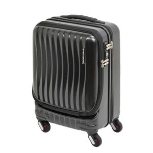 1-216-46-10 エンドー鞄 FREQUENTER CLAM A ストッパー付4輪キャリー 46cm 34L ブラック FREQUENTER CLAM A