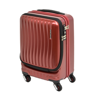 1-216-46-31 エンドー鞄 FREQUENTER CLAM A ストッパー付4輪キャリー 46cm 34L ワイン FREQUENTER CLAM A