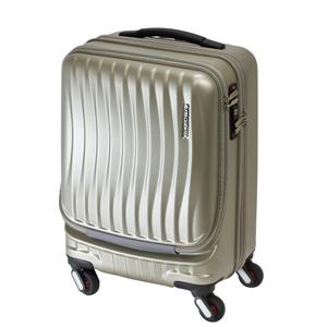 1-216-46-66 エンドー鞄 FREQUENTER CLAM A ストッパー付4輪キャリー 46cm 34L CPゴールド FREQUENTER CLAM A