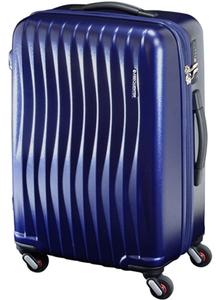 1-621-01-07 エンドー鞄 超静穏スーツケース 58cm ファスナータイプ(マット加工) 56L マットネイビー FREQUENTER WAVE