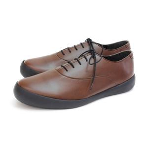 CJFC7113-BRN-S RegettaCanoe フラットカヌーメンズビジネスシューズ(プレーン)(ブラウン・サイズ:S) 短靴 サイズ目安:25.0-25.5