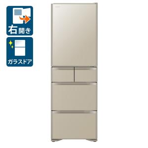 (標準設置料込)R-S40K-XN 日立 401L 5ドア冷蔵庫(プレーンシャンパン)【右開き】 HITACHI [RS40KXN]