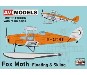 1/72 デ・ハビランド D.H.83 フォックス・モス「フロート&スキー」【AVI72012】 AVIモデル