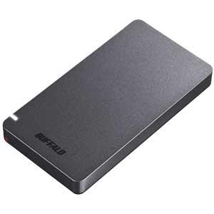 SSD-PGM960U3-B バッファロー USB3.2(Gen2)対応 外付けポータブルSSD 960GB(ブラック) SSD-PGMU3シリーズ