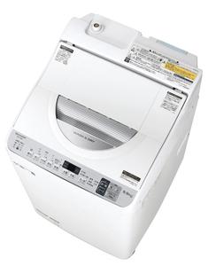 (標準設置料込)【100円OFF?当店限定クーポン 6/24 23:59迄】ES-TX5D-S シャープ 5.5kg 洗濯乾燥機 シルバー系 SHARP 穴なし槽 [ESTX5DS]