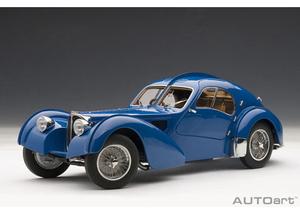 1/18 ブガッティ タイプ57SC アトランティック 1938 (ブルー/ワイヤースポークホイール)【70943】 オートアート
