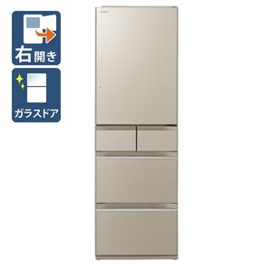 (標準設置料込)R-HWS47K-XN 日立 470L 5ドア冷蔵庫(プレーンシャンパン)【右開き】 HITACHI HWSシリーズ [RHWS47KXN]