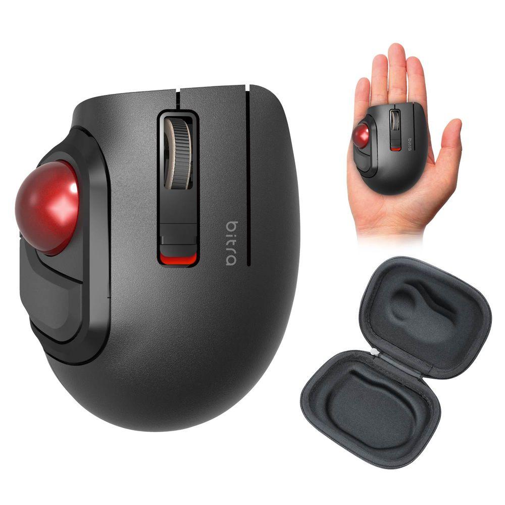 M-MT1BRSBK 18%OFF エレコム Bluetooth対応 5ボタン モバイルトラックボール ブラック 推奨 Sサイズ bitra 親指操作タイプ