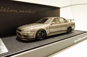 1/43 Nissan Skyline 25GT Turbo (ER34) Gun Metallic【IG1618】 ignitionモデル