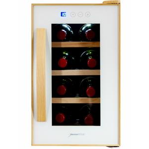 CE-8W-W デバイスタイル ワインセラー (8本収納)【右開き】 ホワイト deviceSTYLE [CE8WW]