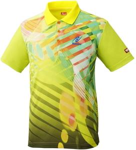 NT-NW2190-60-O ニッタク 卓球用ウェア(男女兼用)(イエロー・Oサイズ) Nittaku トロピックシャツ