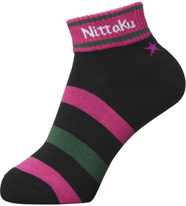 NT-NW2970-21-M ニッタク 卓球用ソックス(男女兼用)(ピンク・Mサイズ) Nittaku 3スターソックス