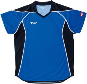 TSP-031432-0120-2XS ティーエスピー 男女兼用 卓球用ゲームシャツ(ブルー・サイズ:2XS) TSP エテルノシャツ
