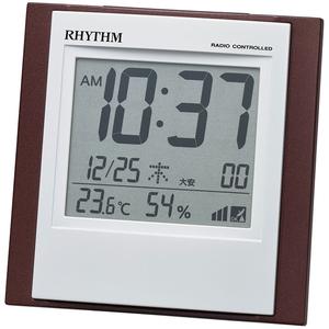卸直営 8RZ218SR06 リズム 電波目覚まし時計 返品種別A 格安 価格でご提供いたします フィットウェーブD218