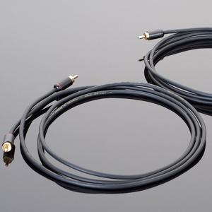 """HWRCA10(3.0m) トランスペアレント RCAケーブルハードワイヤー(3.0m·ペア) TRANSPARENT """"hardwired"""""""