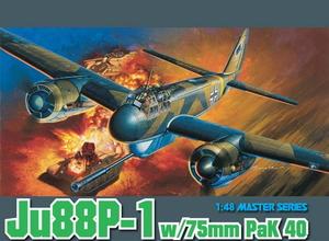 1/48 WW.II ドイツ空軍 ユンカースJu88P-1&75mm対戦車砲 PaK 40 タンクバスター【DR5543】 ドラゴンモデル