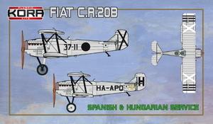 1/72 フィアット CR.20B 複座練習・連絡機 「スペイン・ハンガリー」【KORPK72118】 コラモデルス