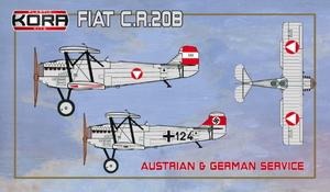 1/72 フィアット CR.20B 複座練習・連絡機 「オーストリア・ドイツ」【KORPK72119】 コラモデルス