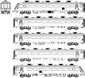 [鉄道模型]トラムウェイ (HO) TW-SEC-A サロ東(国鉄サロンエクスプレス東京) 基本5両セット