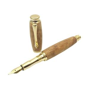 TWM18306 F-STYLE 手作り銘木万年筆 天然木 楠/くすのき