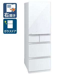 (標準設置料込)MR-MB45F-W 三菱 451L 5ドア冷蔵庫(クリスタルピュアホワイト)【右開き】 MISTUBISHI MBシリーズ [MRMB45FW]