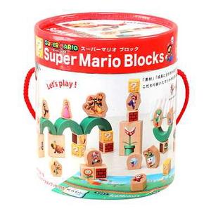 SUPER MARIO はじめての木製玩具 マリオブロック カワダ