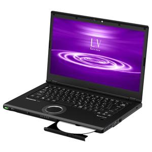 CF-LV8PDNQR パナソニック 14.0型ノートパソコン Let's note LVシリーズ(ブラック) [Core i7 / メモリ 8GB / SSD 512GB / Microsoft Office 2019]